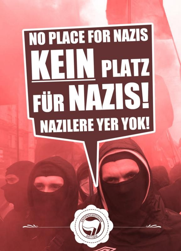 Verbotenes Antifaschistisches Plakat