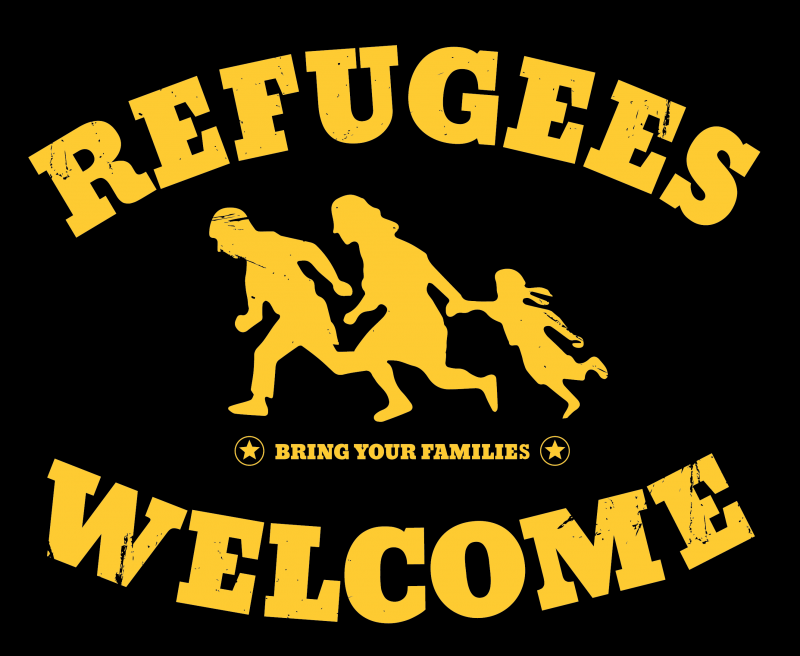 Verbotenes Refugees Welcome Plakat