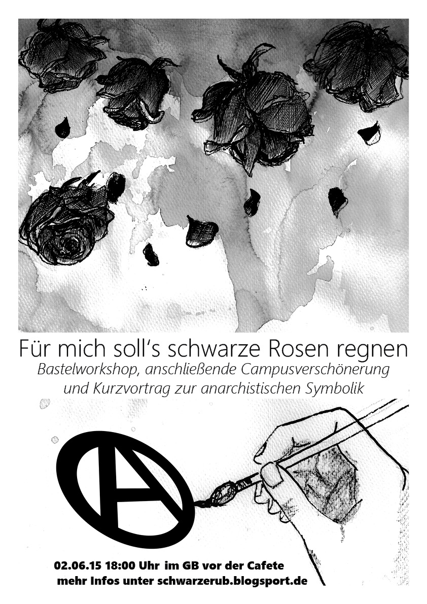 2 6 f r mich soll es schwarze rosen regen bastelworkshop schwarze ruhr uni. Black Bedroom Furniture Sets. Home Design Ideas